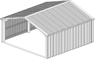 6m x 6m Shelter Shed